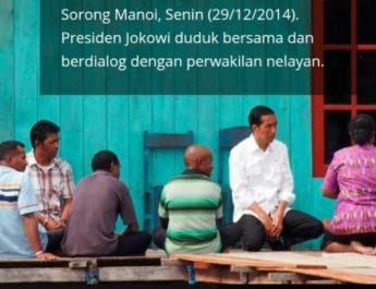 presiden dan nelayan papua