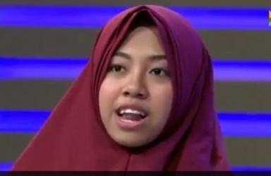 afi nihaya jilbab merah
