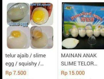 telur palsu slime