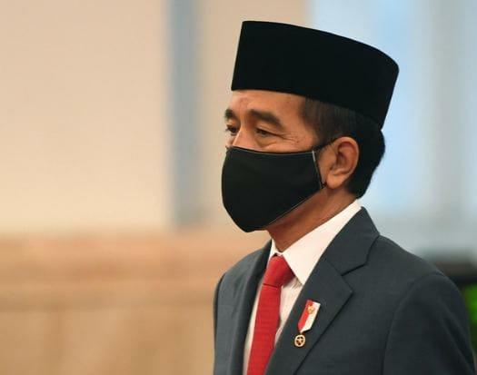 presiden jokowi bermasker